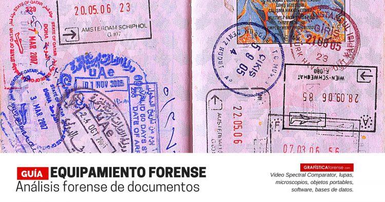 EQUIPAMIENTO PARA EL ANÁLISIS FORENSE DE DOCUMENTOS