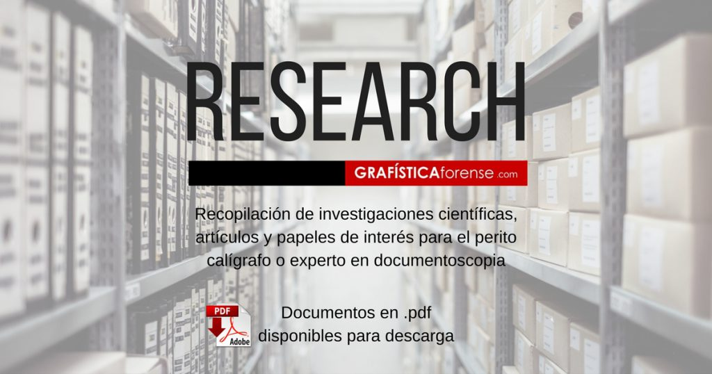 research forensic document examiner