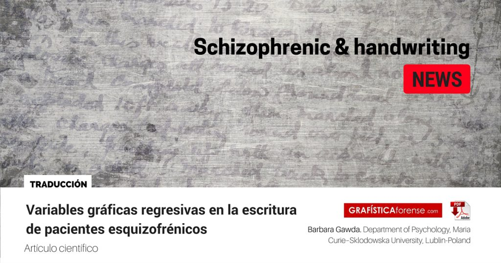 Schizophrenic & handwritingNEWS
