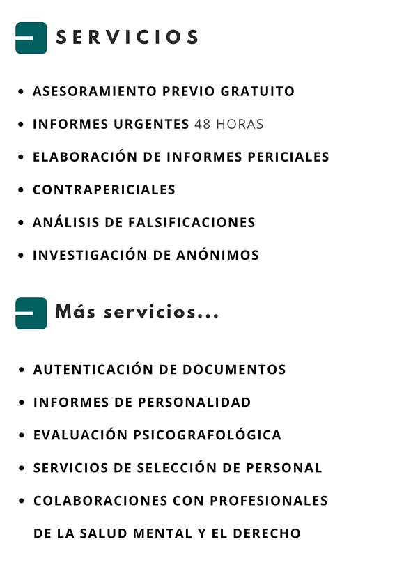 servicios grafística forense